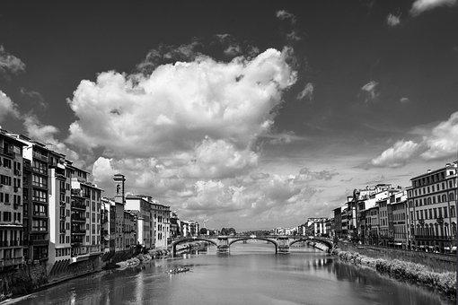 Black An White, Florence, Fi, Firenze, Travel, Italy