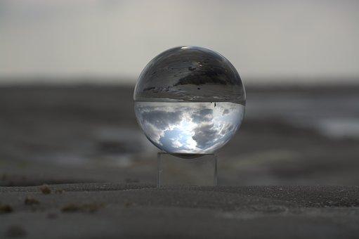 North Sea, Glass Ball, Globe Image, Mirrored