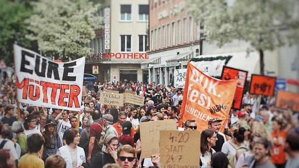 Demonstration, Human, Hamburg, Police, Man, Parade, Csd