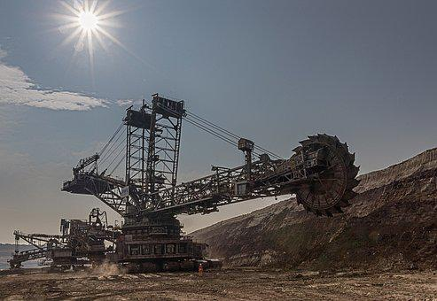 Open Pit Mining, Carbon, Brown Coal, Industry, Mining