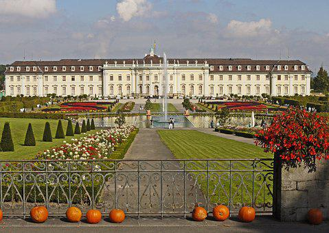 Ludwigsburg Germany, Castle, Equipment, Late Summer