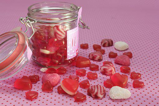 Fruit Jelly, Gummibärchen, Heart, Love, Romance, Sweet