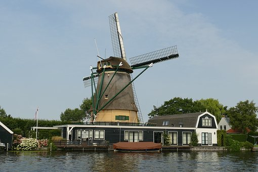 Mill, Wicks, History, Netherlands, Vreeland, Landscape