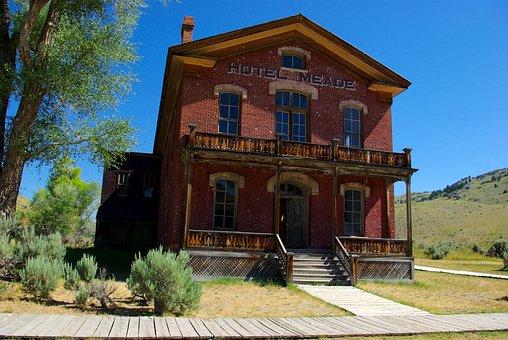 Hotel Meade, Montana, Usa, Bannack, Ghost Town