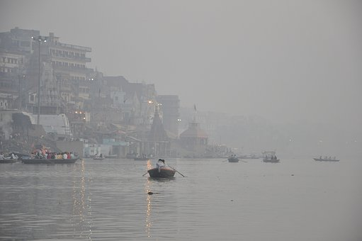 Time, Of, Morning Prayers, On, The, Ganges, Varanasis