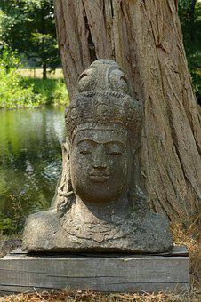 Image, Sculpture, Head, Art, Stone, Oriental, Asia
