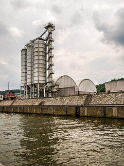 Silo, Port, Scrap Recycling, Scrap, Trade, Building