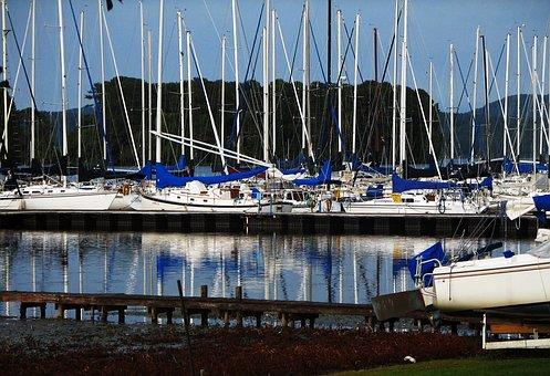Boats, Sail, Water, Sailing, Boat, Sailboat, Lake, Blue