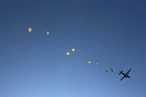 Skydiving, Parachutes, Bundeswehr, Spring Practice