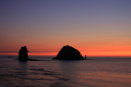 Glow, Sea, Sunset, Twilight, Beach, Landscape