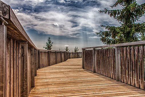 Architecture, Wooden Track, Sidewalk, Trail, Wood