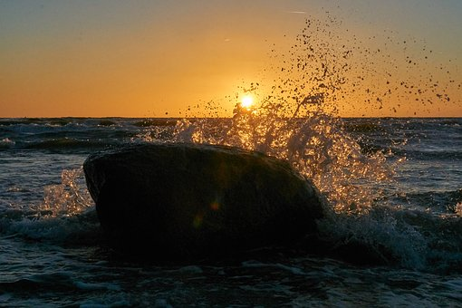 Sunset, Sea, Water, Ocean, Sky, Evening, Nature, Dusk