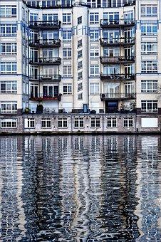 Berlin, Spree, Flats, Buildings, Architecture, Waters