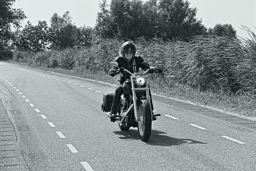 Biker, Woman, Female Biker, Motor Bike, Vehicle