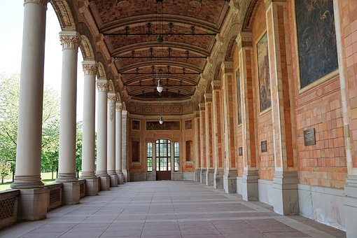 Pump Room, Baden Baden, Germany, Architecture, Building