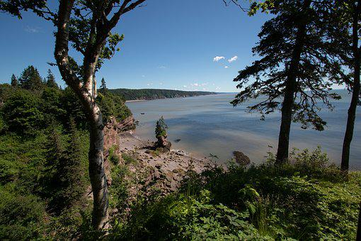 St Martins, Water, Fundy, Bay Of Fundy, Landscape