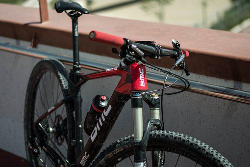 Bicycle, Red, Wall, Bmc, Vehicle, Transport, Cycling