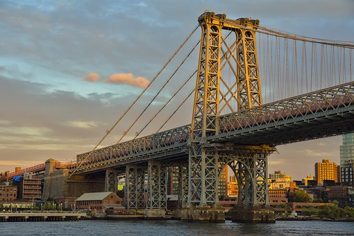 New York City, Bridge, Brooklyn, Urban, Skyline