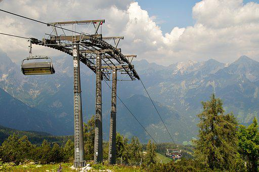 Alps, Cableway, Cabin, Seater, Bubble, Summer