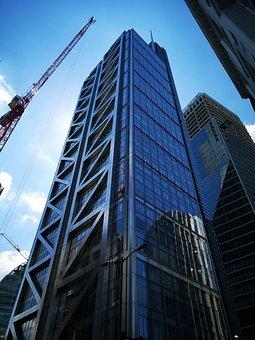 London, Skyscraper, Tower, Building, Sky, Blue