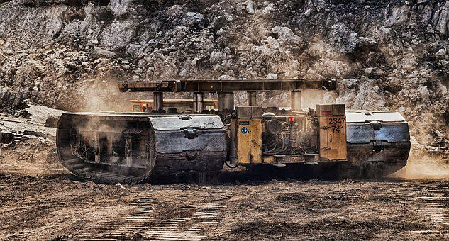 Open Pit Mining, Tracked Vehicle, Carbon, Removal