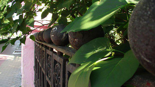 Fence, Copper, Steel, Metal, Carved, Cast, Protection