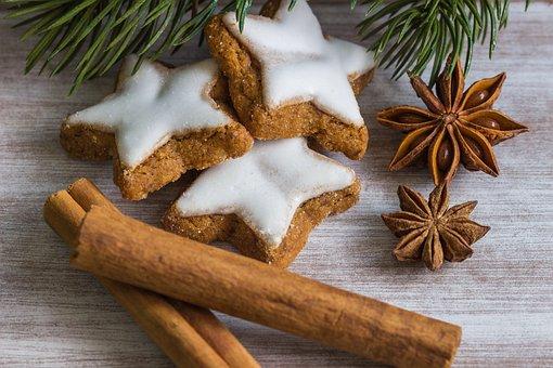 Christmas, Pastries, Cinnamon Sticks, Fir Tree