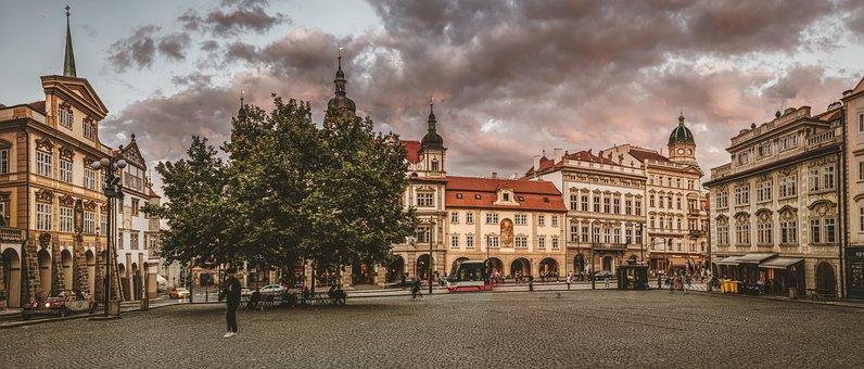Prague, Space, City, Building, Historic Center, Road