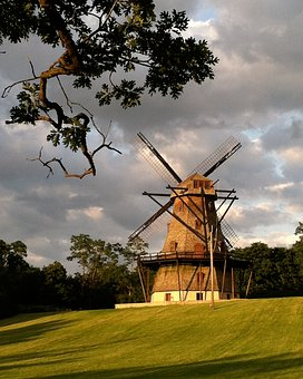 Windmill, Landscape, Nature, Dutch, Sky, Clouds