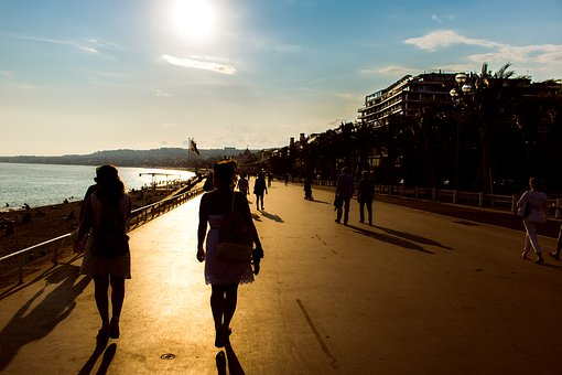 Summer, Croisette, Cannes, Mediterranean, Blue, Beach
