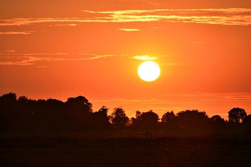 Sunset, Rheiderland Include A, Nature, Dusk, Sunlight