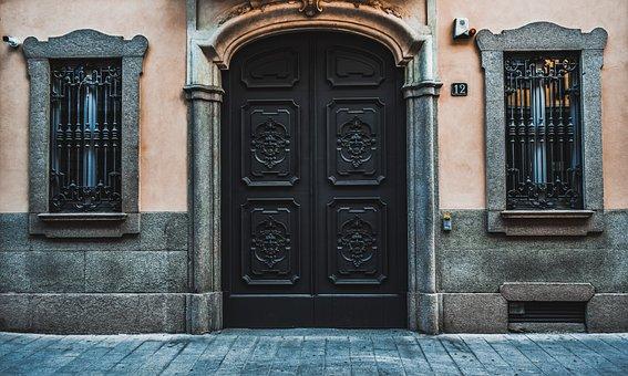 Door, Windows, Architecture, Entrance, Exterior, Facade