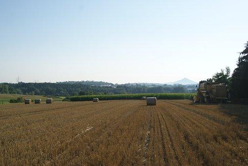 Landscape, Bauer, Farmer, Combine Harvester