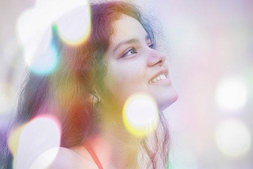 Bokeh, Model, Smile, Indian, Girl, Woman, Fashion