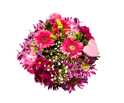 Flowers, Bouquet, Isolated, Gerbera, Lilies