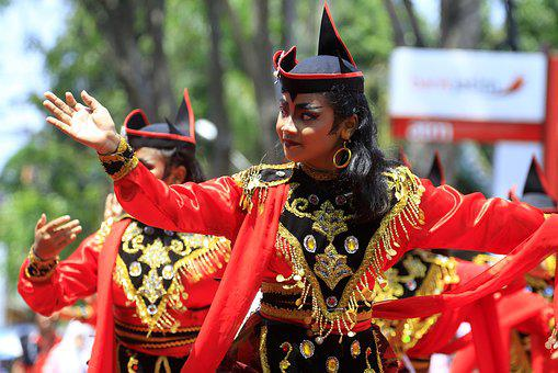 Dance, Dancer, Indonesian, Java, Girl, Traditional