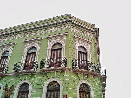 Architecture, Green, History, House, Design, Door, Wood