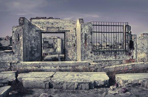 Ruins, House, Door, Window, Ruin, Decay, Broken, Old