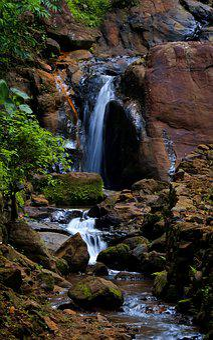 Waterfall, Water, Nature, River, Stream, Kerala, Falls