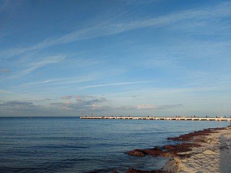 Sea, Sky, Peaceful, Nature, Ocean, Landscape, Beach
