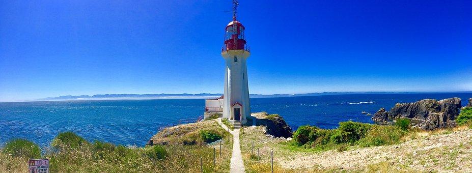 Canada, Port, Lighthouse, Ocean, Building, Landscape