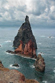 Madeira, Cliffs, Portugal, Atlantic