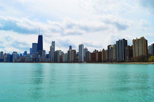 Chicago, Michigan Lake, Downtown, City, Illinois
