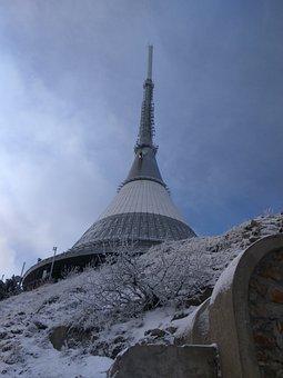 Ještěd, Winter, Snow, Landscape, View, Mountain, Sky