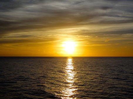 Sea, Ocean, Holiday, Sky, Nature, Red, Caribbean