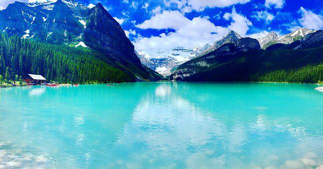Lake, Canada, Lake Louise, Nature, Mountain, Sky