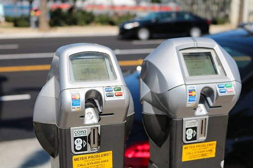 Parking Meter, Parking, Park Fee, Coins, San Diego, Pay