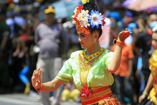 Dance, Traditional, Indonesian, Women, Culture, People