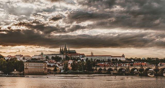 Prague, Czech Republic, City, Architecture, River