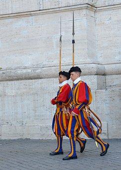 Rome, Swiss Guard, Vatican, Guard, Halberd